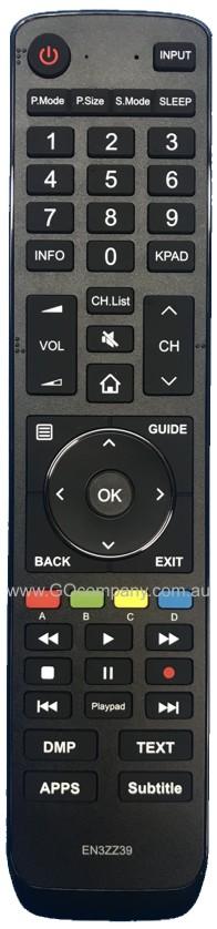 Genuine Original HISENSE Television Remote Control EN3ZZ39