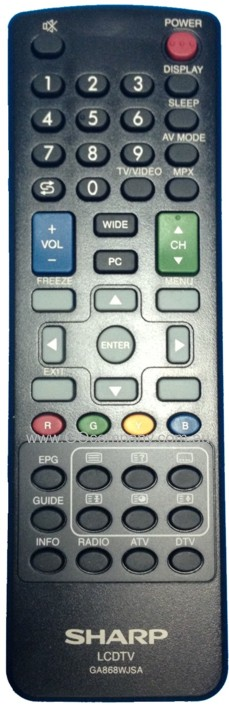 GA868WJSA Genuine Original SHARP TV Remote Control RRMCGA868WJSA