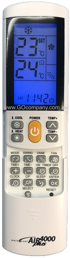 UNIVERSAL AIR CONDITIONER REMOTE CONTROL FOR ALL ELECTROLUX